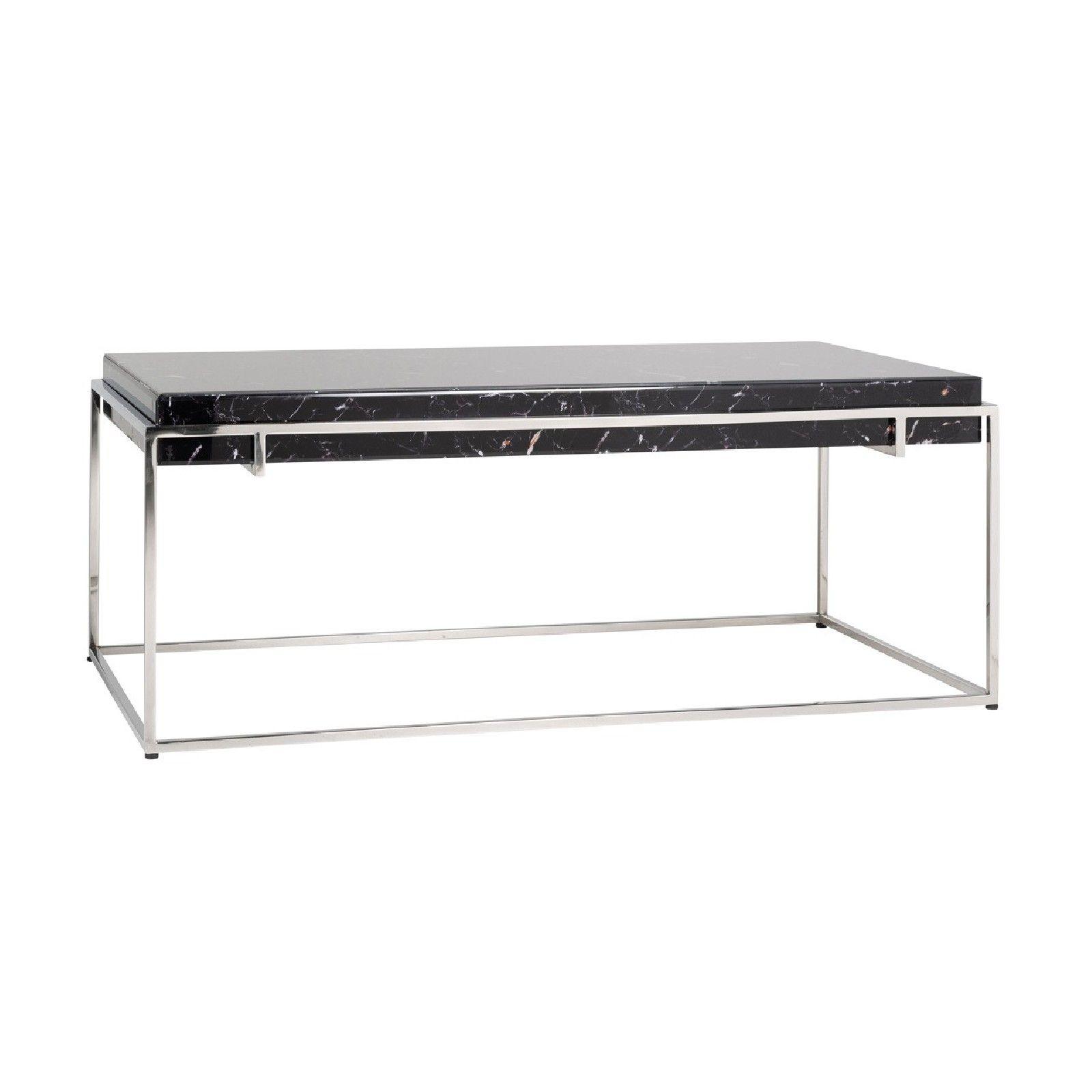 """Table basse rectangulaire - Plateau marbre noir """"Dante"""" Tables basses rectangulaires - 112"""
