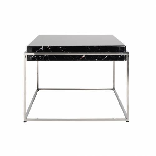 """Table basse rectangulaire - Plateau marbre noir """"Dante"""" Tables basses rectangulaires - 154"""