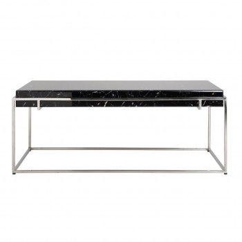 """Table basse rectangulaire - Plateau marbre noir """"Dante"""" Tables basses rectangulaires - 165"""