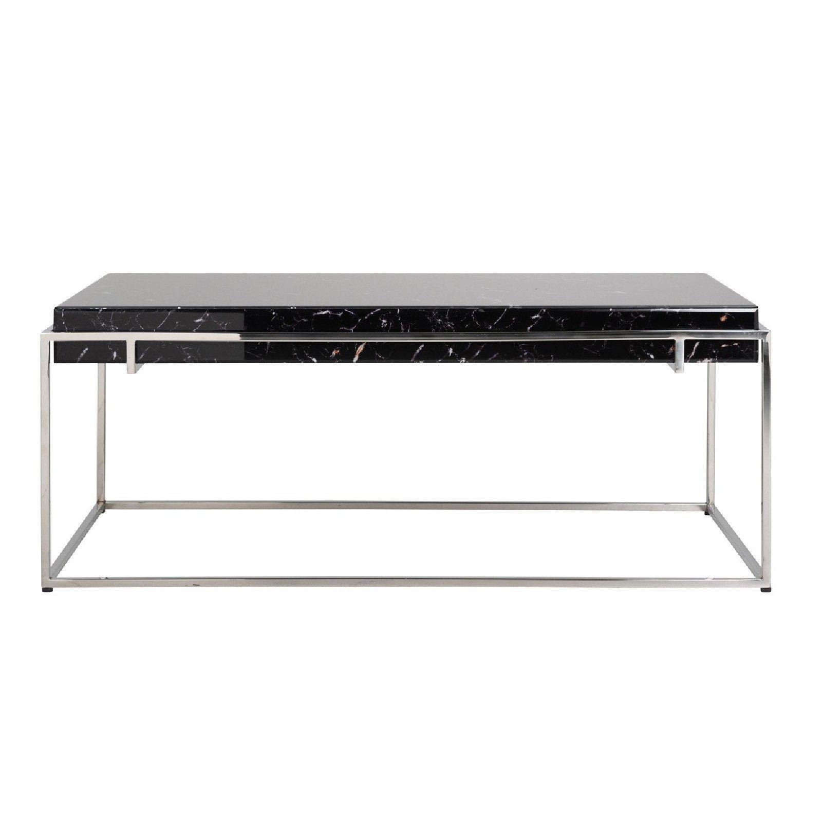 Table basse rectangulaire - Plateau marbre noir