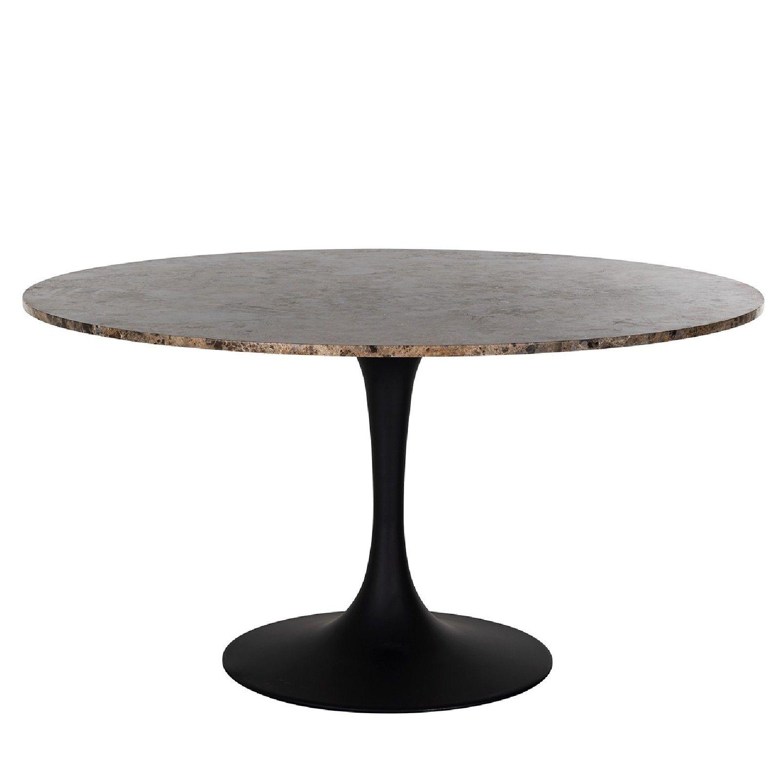 Table a manger Orion 140Ø avec du marbre brun Meuble Déco Tendance - 93