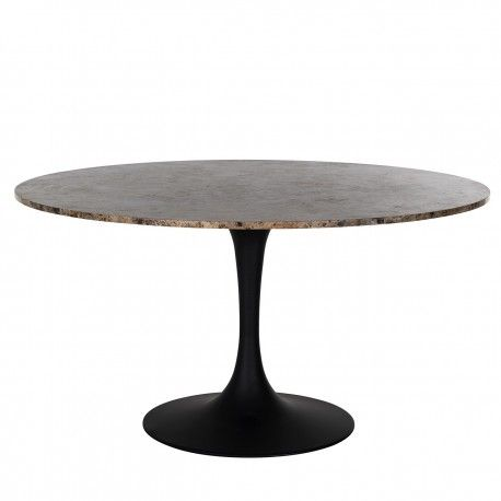 Table a manger Orion 140Ø avec du marbre brun