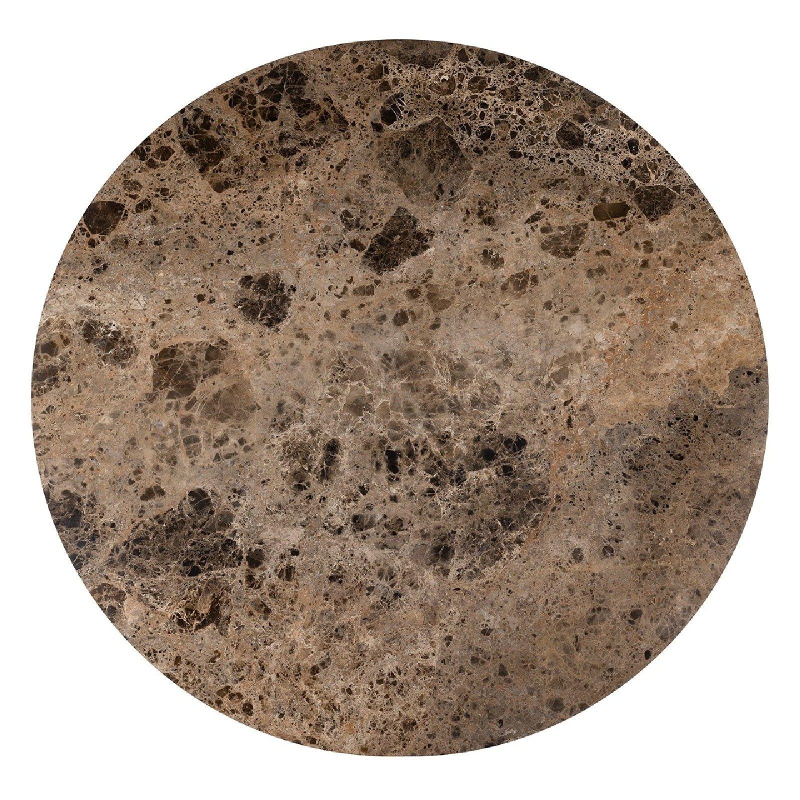 Table a manger Orion 140Ø avec du marbre brun Meuble Déco Tendance - 324