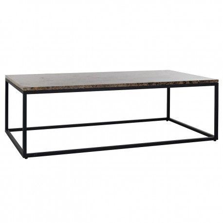 """Table basse rectangulaire - Plateau marbre brun """"Orion"""""""