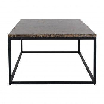 "Table basse rectangulaire - Plateau marbre brun ""Orion"" Tables basses rectangulaires - 85"