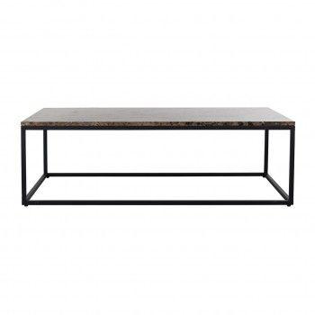 "Table basse rectangulaire - Plateau marbre brun ""Orion"" Tables basses rectangulaires - 138"