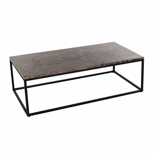 "Table basse rectangulaire - Plateau marbre brun ""Orion"" Tables basses rectangulaires - 161"