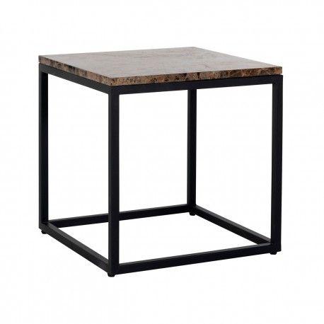 Table d'angle Orion avec du marbre brun