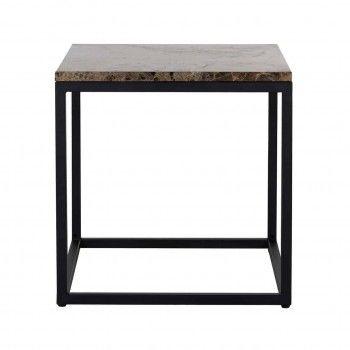 Table d'angle Orion avec du marbre brun Meuble Déco Tendance - 221