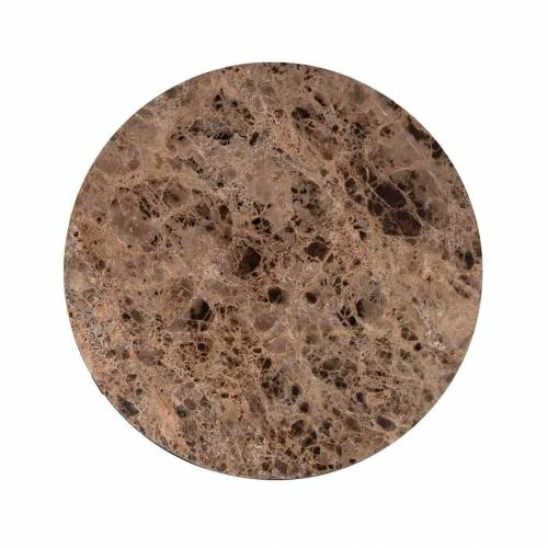 "Table basse ronde 60Ø - Metal et marbre brun ""Orion"" Tables basses rondes - 105"