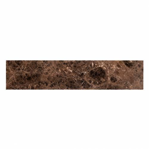 Console Orion avec du marbre brun Meuble Déco Tendance - 557
