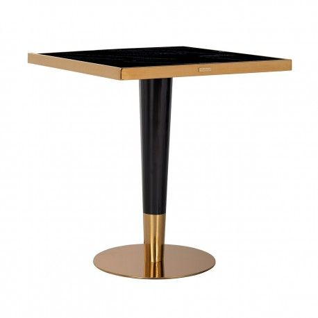Table a diner Can Roca square black 70x70
