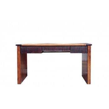 Bureau ethnique chic Moon 3 tiroirs en bois d'acacia massif