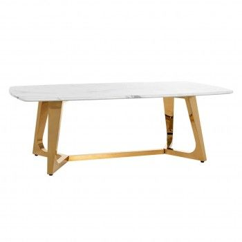 Table basse ovale - Or et...