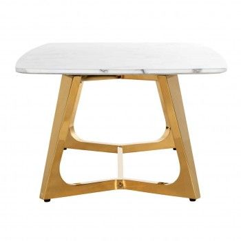 """Table basse ovale - Or et marbre blanc """"Dynasty"""" Tables basses ovales - 107"""