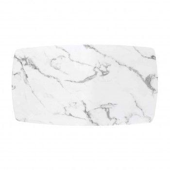 """Table basse ovale - Or et marbre blanc """"Dynasty"""" Tables basses ovales - 110"""