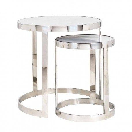 Table d'angle Levanto set de 2 rond
