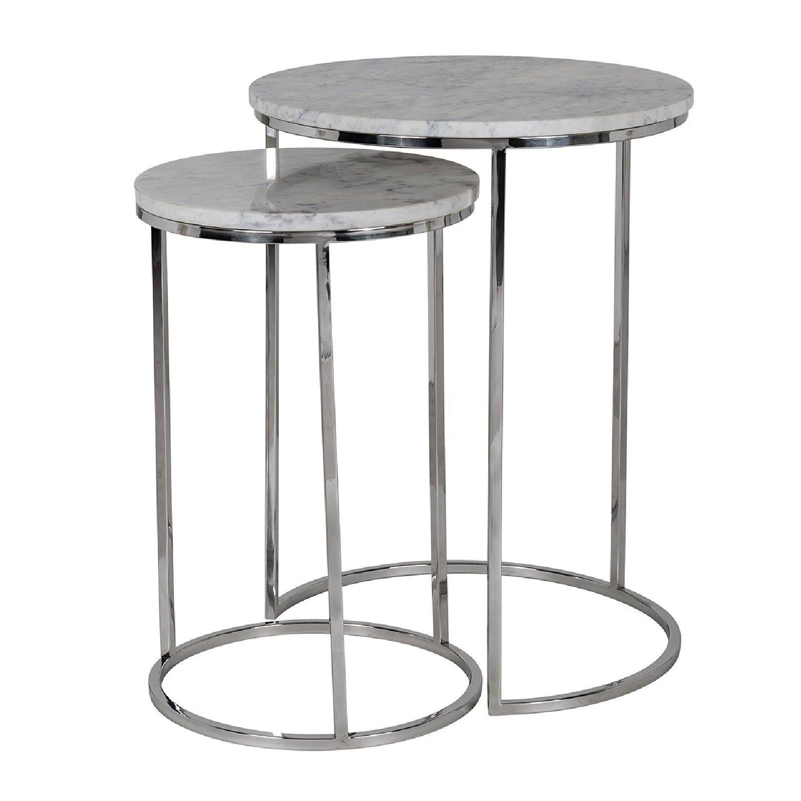 Table d'angle Lacey avec du marbre Meuble Déco Tendance - 3