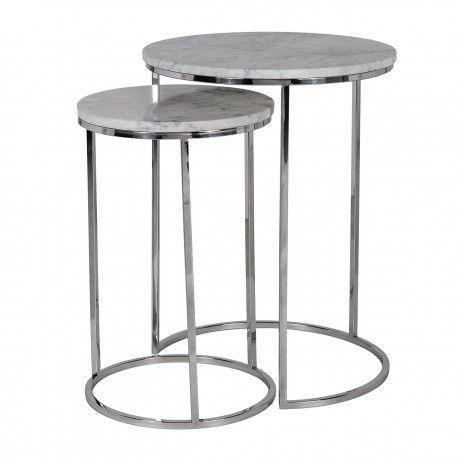 Table d'angle Lacey avec du marbre