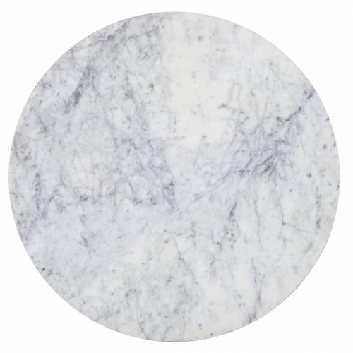 Table d'angle Lacey avec du marbre Meuble Déco Tendance - 243