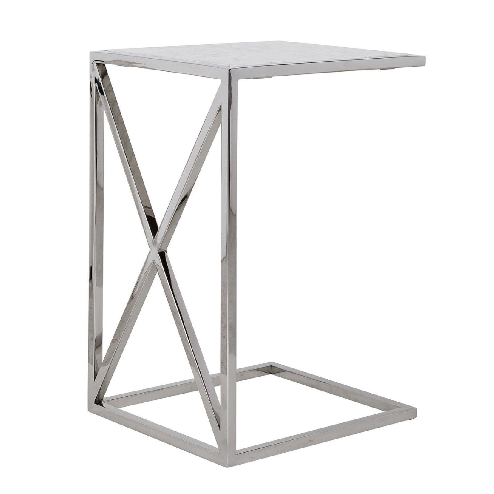 Table d'appoint Mona avec du marbre Meuble Déco Tendance - 72