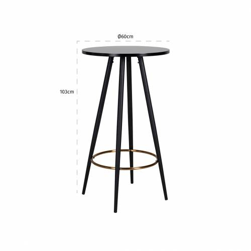 Table de bar Lando ronde 60Ø Meuble Déco Tendance - 449