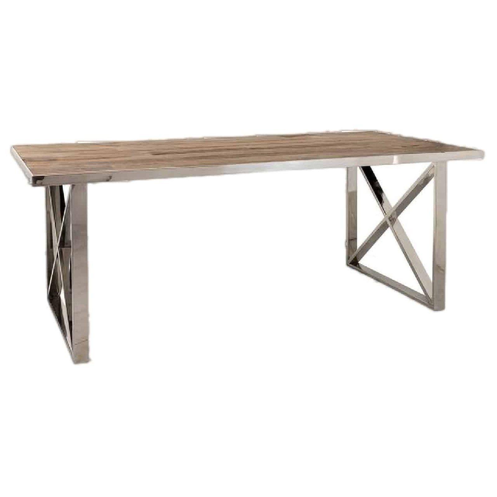 Table à dîner Redmond 200x100 Pied X-Cross Meuble Déco Tendance - 167
