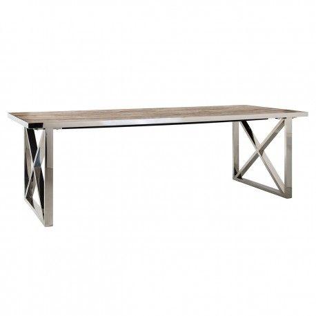 Table à dîner Redmond 240x100 Pied X-Cross
