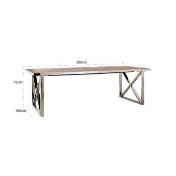 Table à dîner Redmond 240x100 Pied X-Cross Meuble Déco Tendance - 635