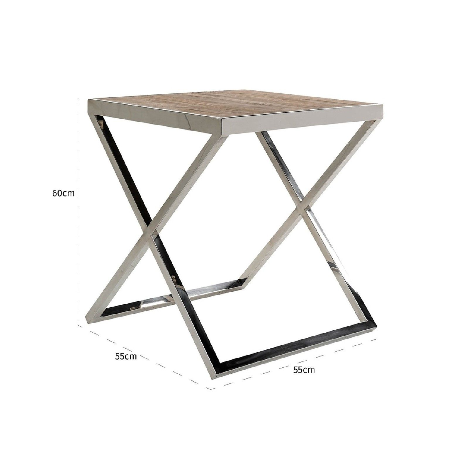 Table d'angle Redmond 55x55 Meuble Déco Tendance - 729