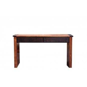 Console ethnique chic Moon 2 tiroirs en bois d'acacia massif