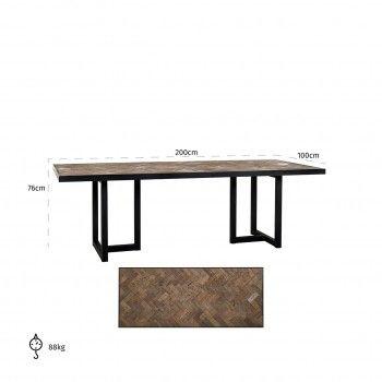 Table à dîner Herringbone 200 Meuble Déco Tendance - 769