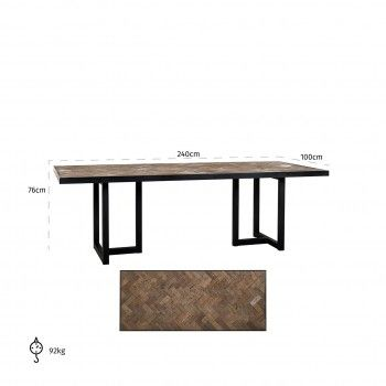 Table à dîner Herringbone 240 Meuble Déco Tendance - 753