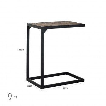 Table d'appoint Herringbone Meuble Déco Tendance - 727