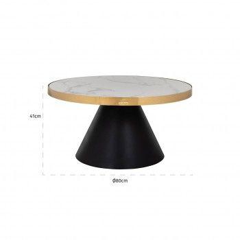 Table de salon Odin rond Ø80 Tables basses rondes - 111
