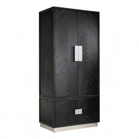 Armoire Blackbone silver avec 2-portes 2-tiroirsPour être utilisé avec des étagères ou suspendus