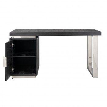 Bureau Blackbone silver avec 1-porteArmoir possible côté gauche/droit Bureaux et secrétaires - 713