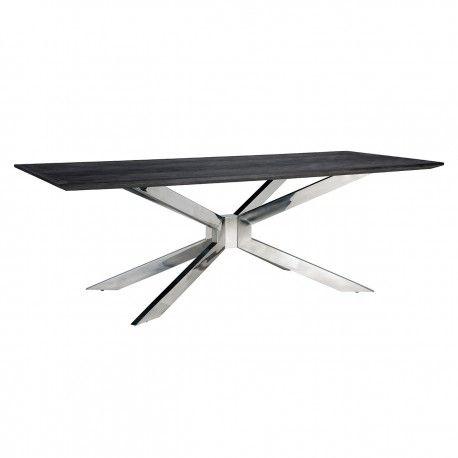 Table à dîner Blackbone Matrix silver 200x100