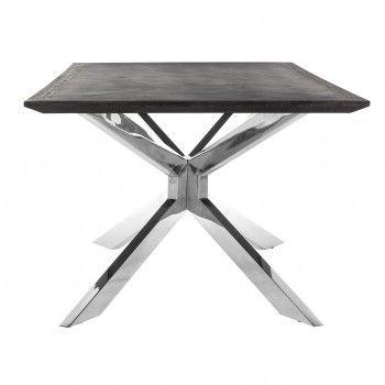 Table à dîner Blackbone Matrix silver 200x100 Meuble Déco Tendance - 383