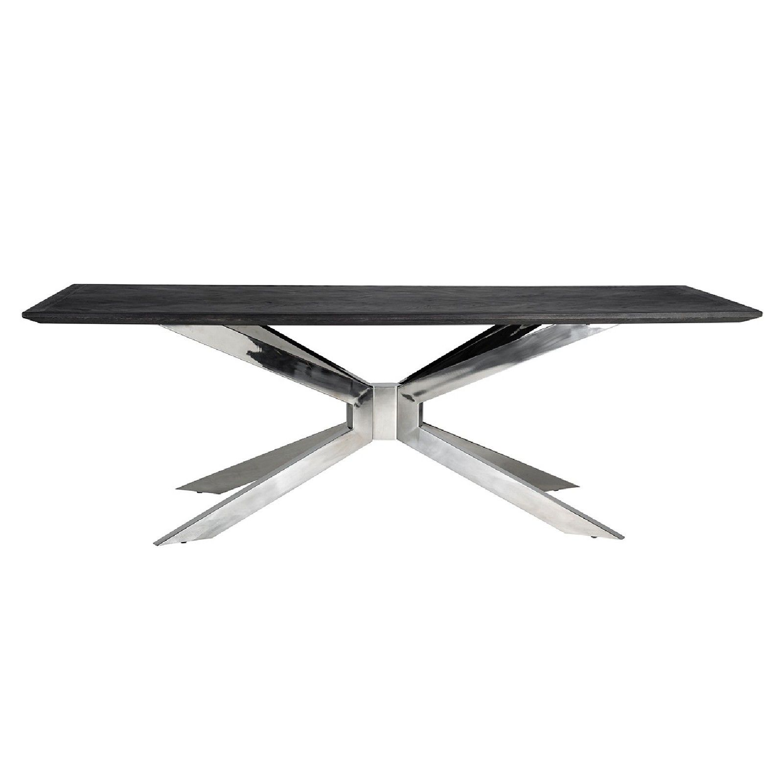 Table à dîner Blackbone Matrix silver 200x100 Meuble Déco Tendance - 406