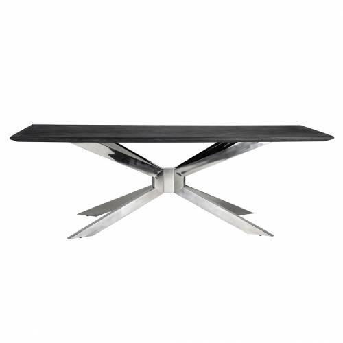 Table à dîner Blackbone Matrix silver 240x100 Meuble Déco Tendance - 489