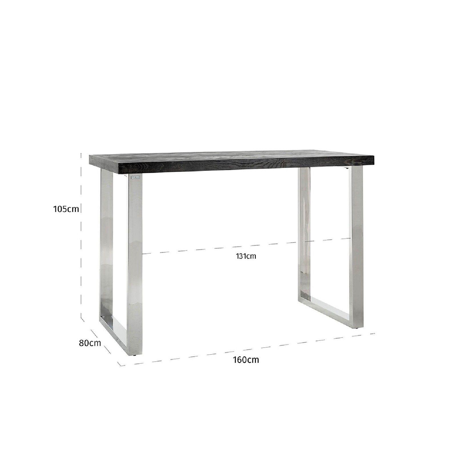 Table de bar Blackbone silver 160 Meuble Déco Tendance - 621