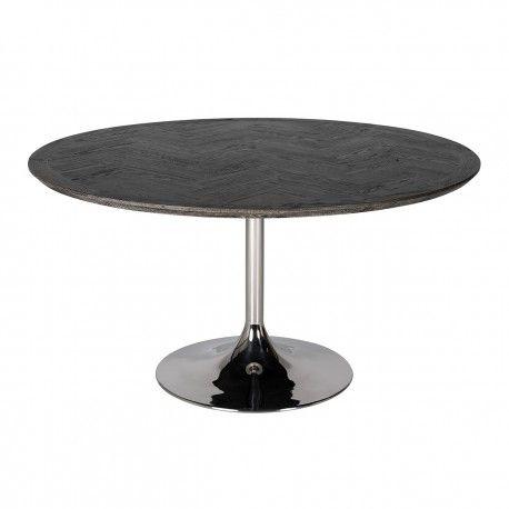 Table à dîner Blackbone Ø140 argentée