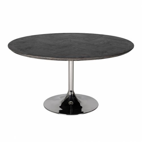 Table à dîner Blackbone Ø140 argentée Meuble Déco Tendance - 1