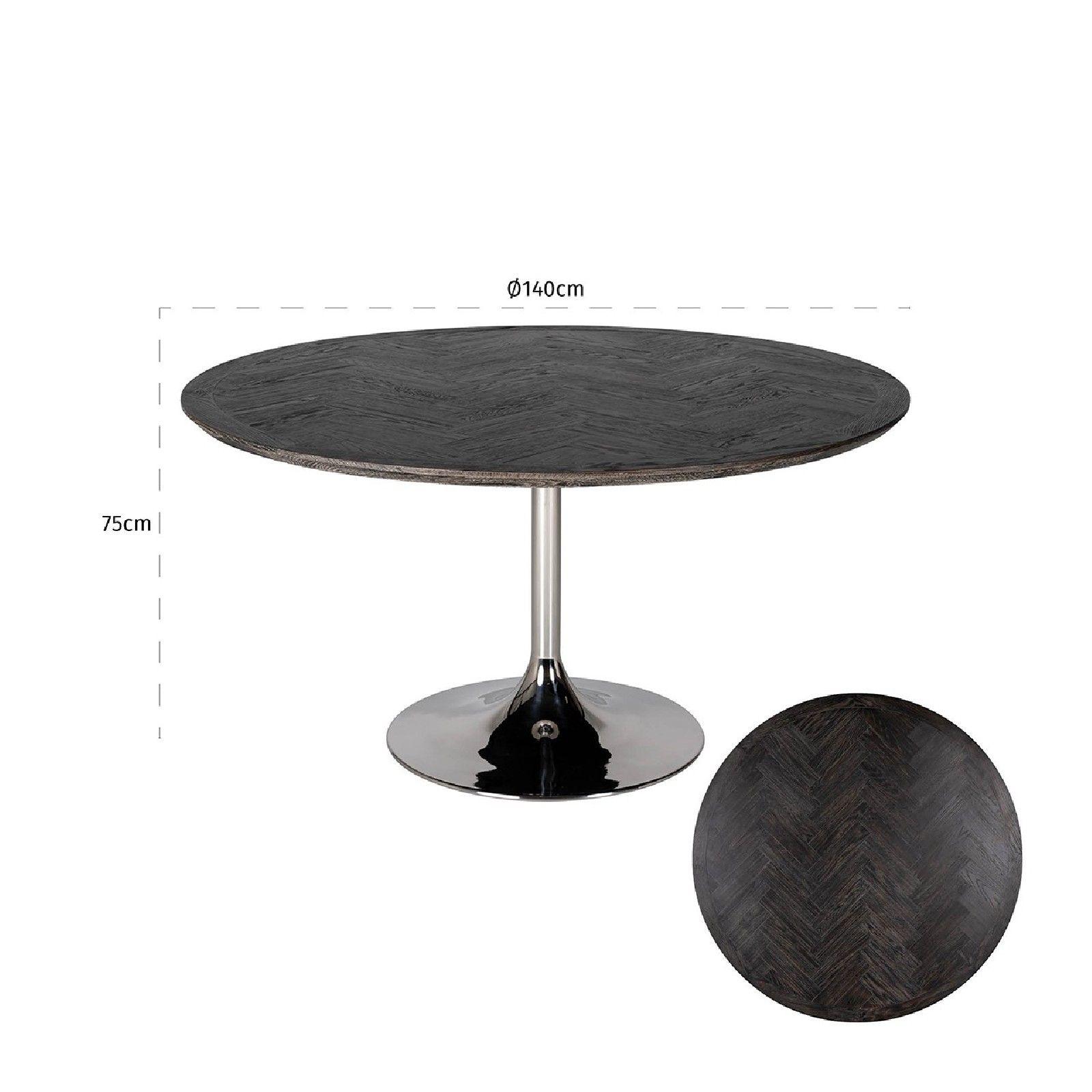 Table à dîner Blackbone Ø140 argentée Meuble Déco Tendance - 3