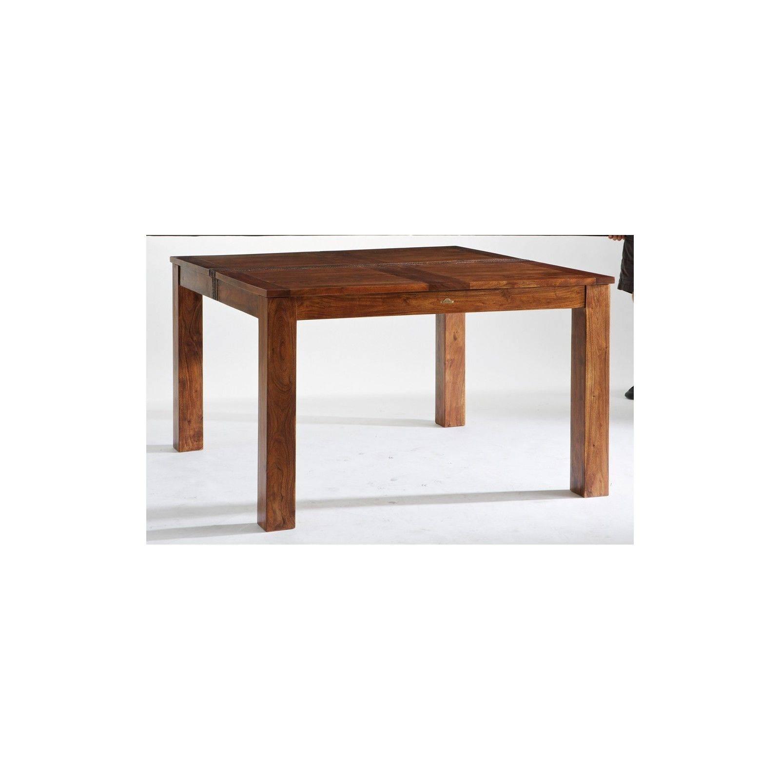 Table de repas carrée haut de gamme Tatoo en acacia massif 130cm
