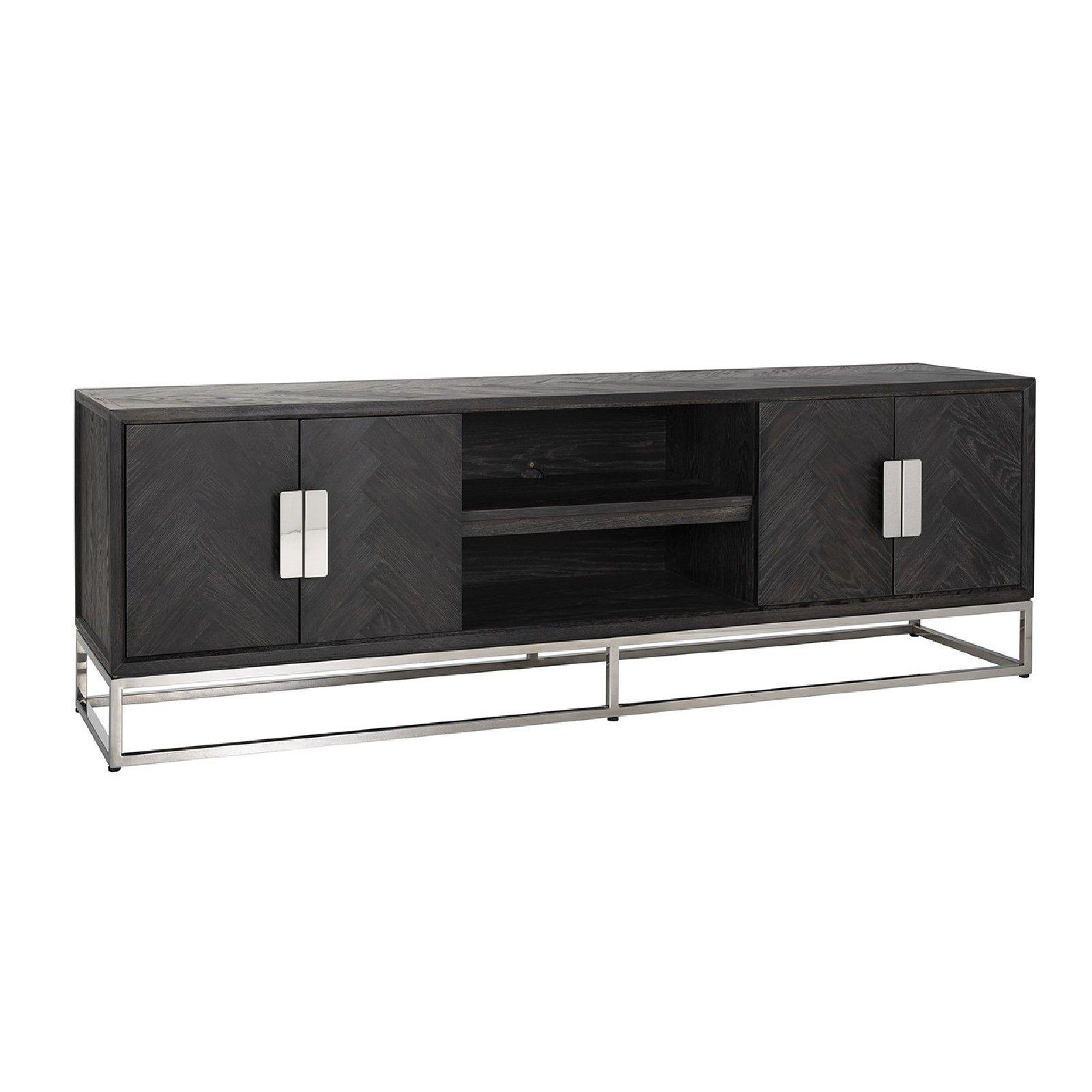 Meuble TV 185 Blackbone silver 4-portes Meuble Déco Tendance - 73