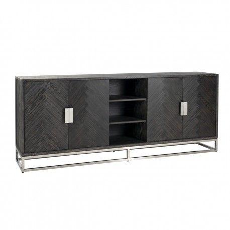 Bahut Blackbone silver 4-portes + espace ouvert