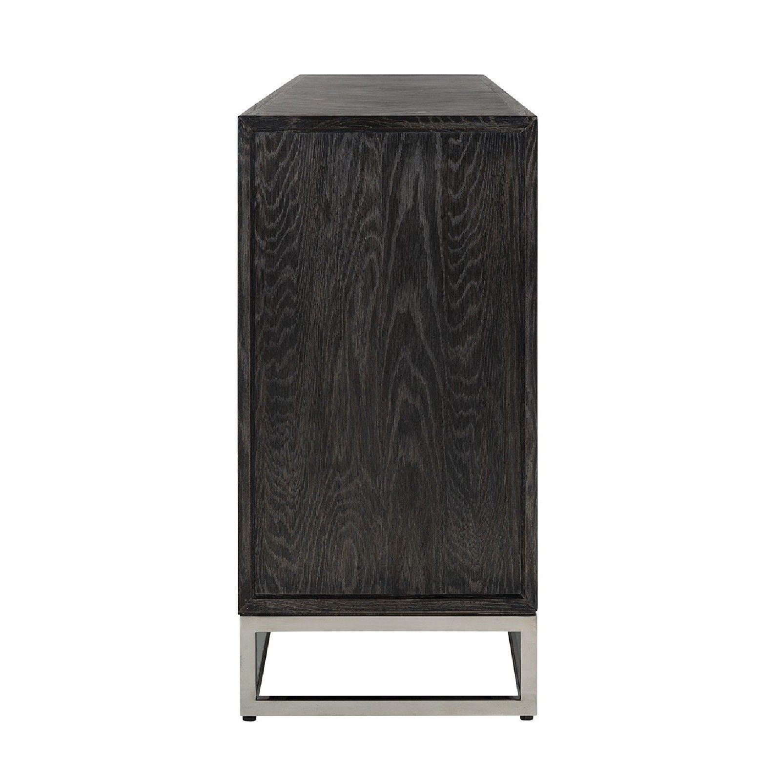 Bahut Blackbone silver 4-portes + espace ouvert Meuble Déco Tendance - 279