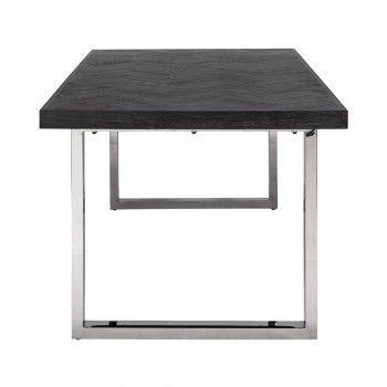 Table à dîner Blackbone silver 220 Meuble Déco Tendance - 318